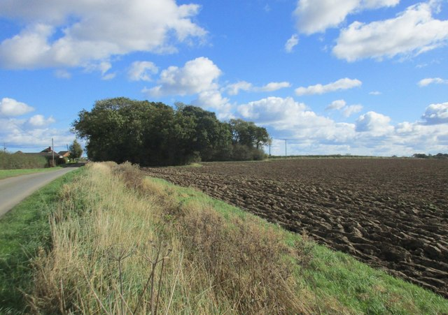 Ploughed field by New Road