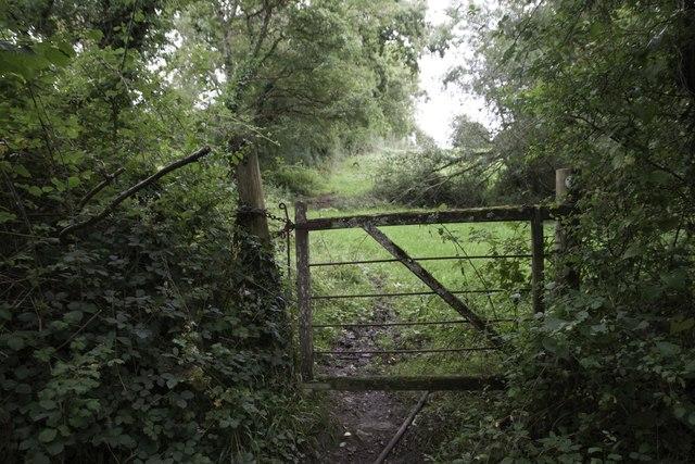 Gate on bridleway near Baker's Farm
