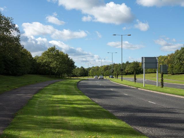 Access road for Designer Outlet