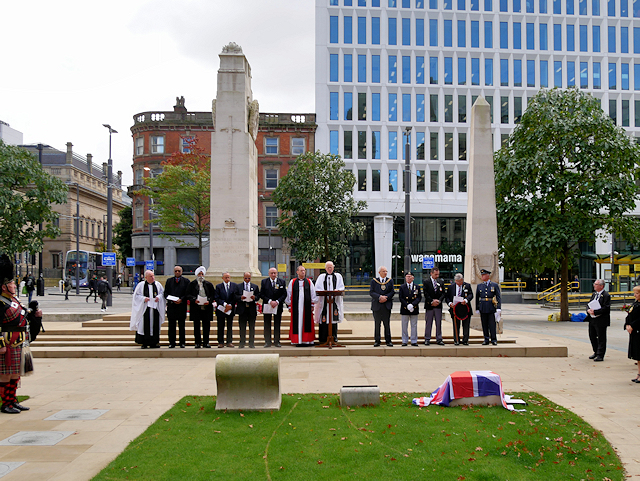 Service at Manchester Cenotaph