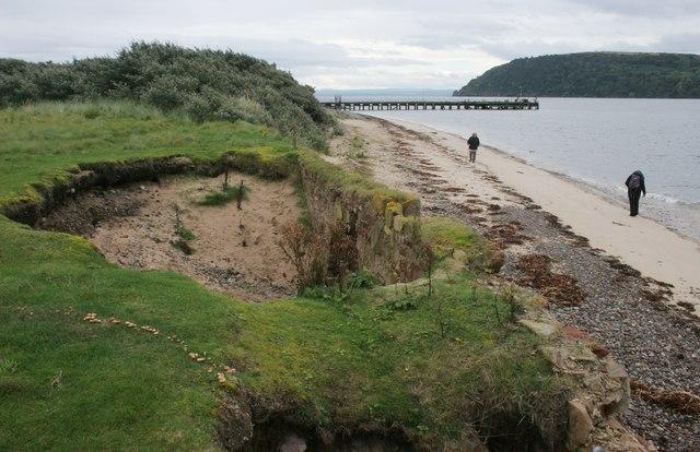 Coastal erosion, Nigg Ferry
