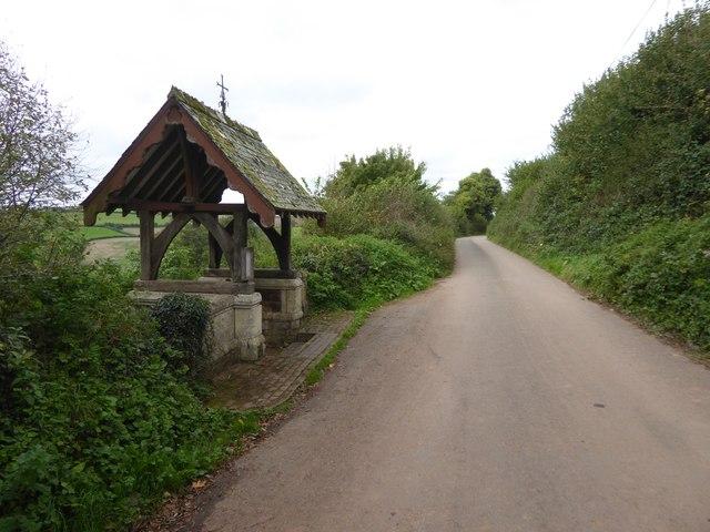 The lych gate at Cadbury church