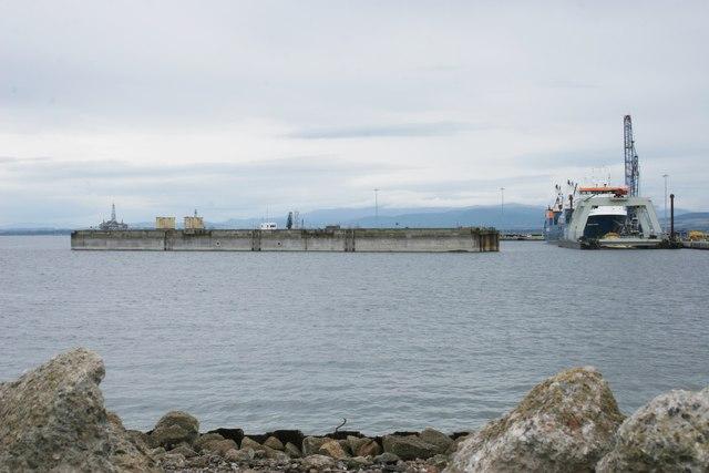 Dock beside the Graving dock, Nigg Ferry