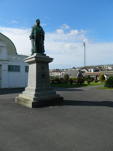 Statue in Victoria Park, Swansea