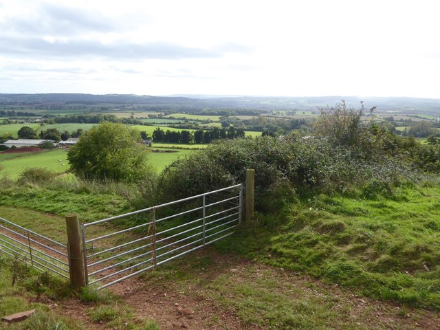 View south-east from near Raddon Hill Farm