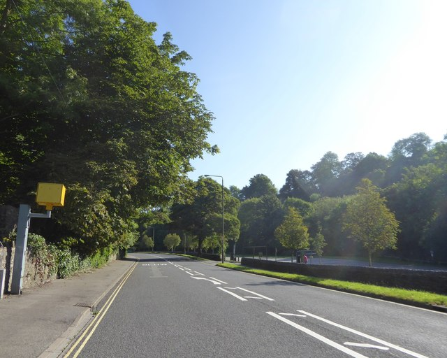 Speed camera, Dale Road, Matlock Dale