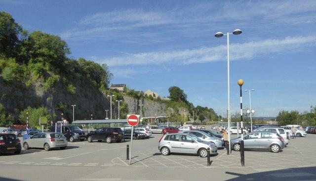 Sainsbury's supermarket car park, Matlock