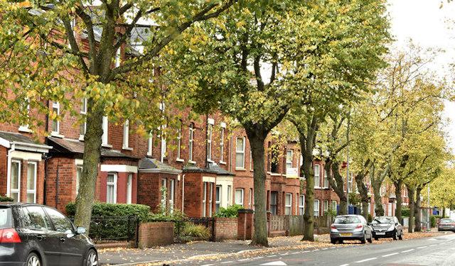 University Avenue, Belfast (October 2017)
