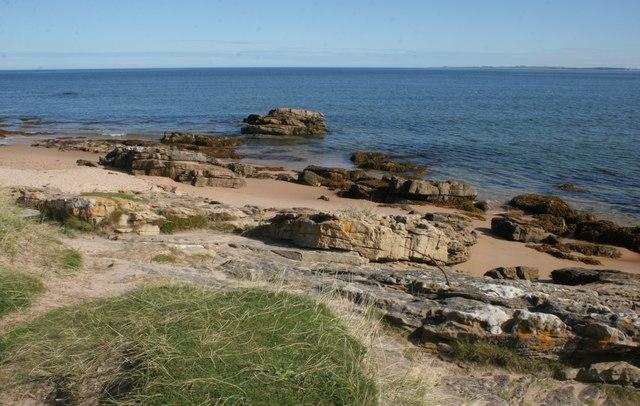 Rocks beside the shore, Dornoch