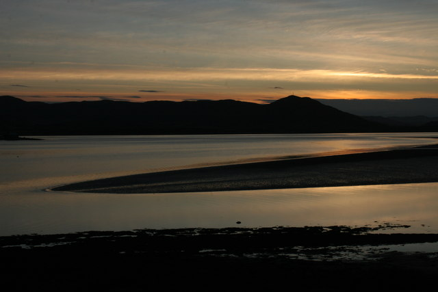 Mudflats, Dornoch Firth at sunset