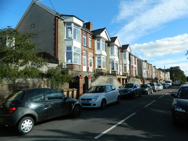 Houses in Caerphilly Rd, Senghenydd