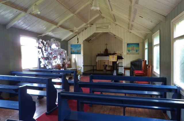Interior of St. Mary's church, Cadgwith on the Lizard peninsula, Cornwall