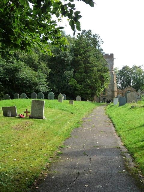 Churchyard path, All Saints, Yelvertoft