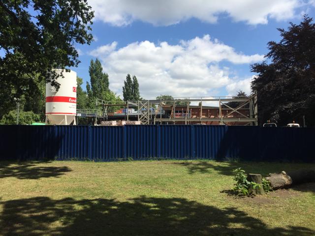 Extension to the Leisure Centre under construction, St Nicholas Park, Warwick
