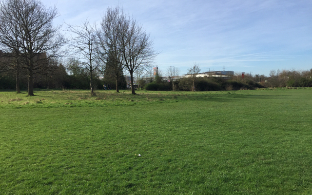 Western half of Shrublands Park, south Leamington