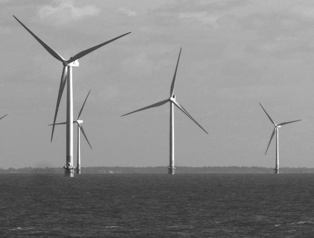 Turbines in the Kentish Flats wind-farm