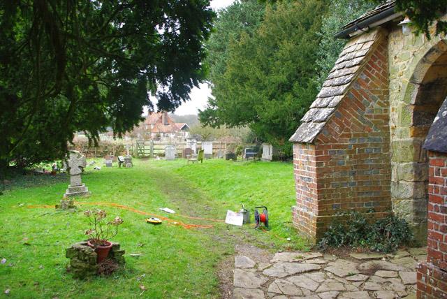 By Crowhurst church