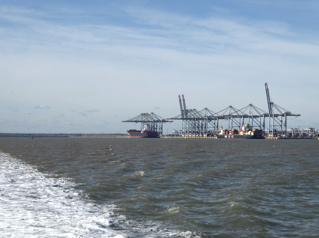 London Gateway container port, October 2017
