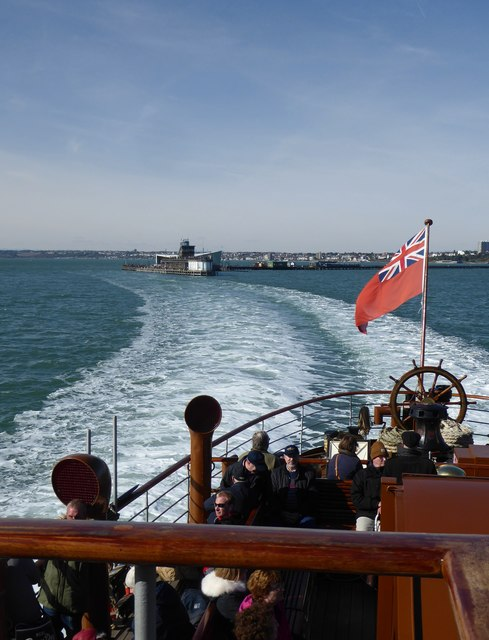 Leaving Southend aboard paddle-steamer Waverley