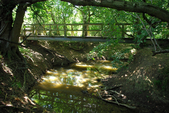 Footbridge over stream