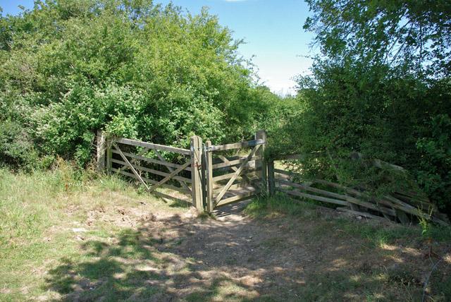 Gate on bridleway