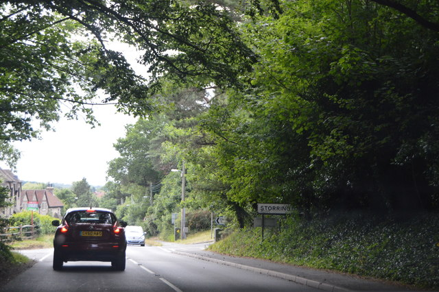 Entering Storrington, A283