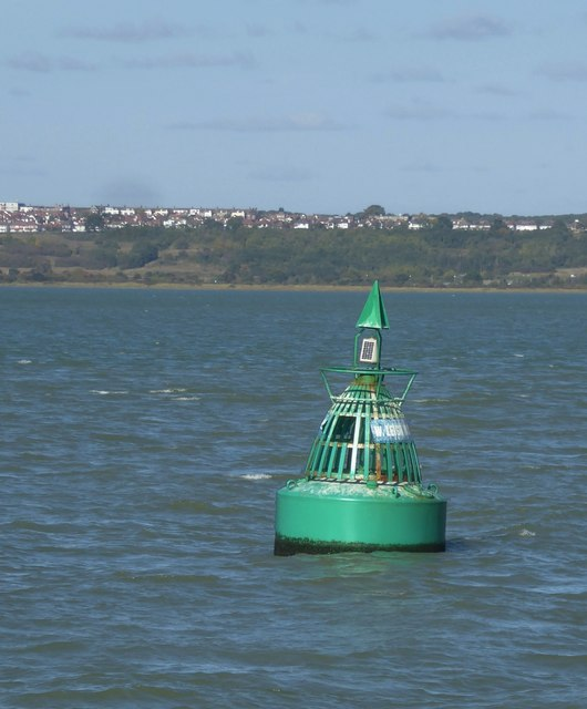 The West Leigh Middle channel-marker buoy