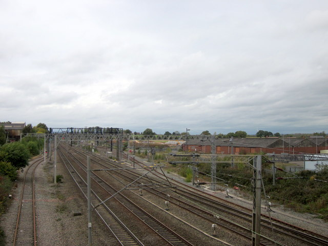 West Coast Main Line Looking North From Lichfield Trent Valley