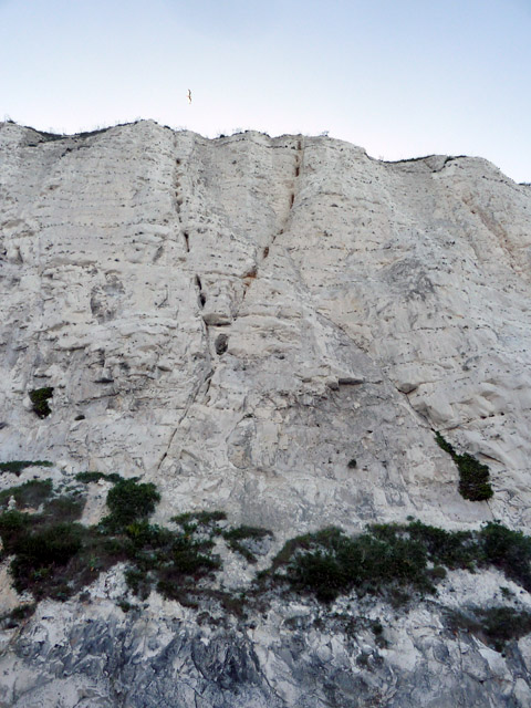 V-sign in cliff