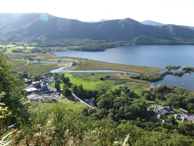 River Derwent and Derwent Water from Surprise View