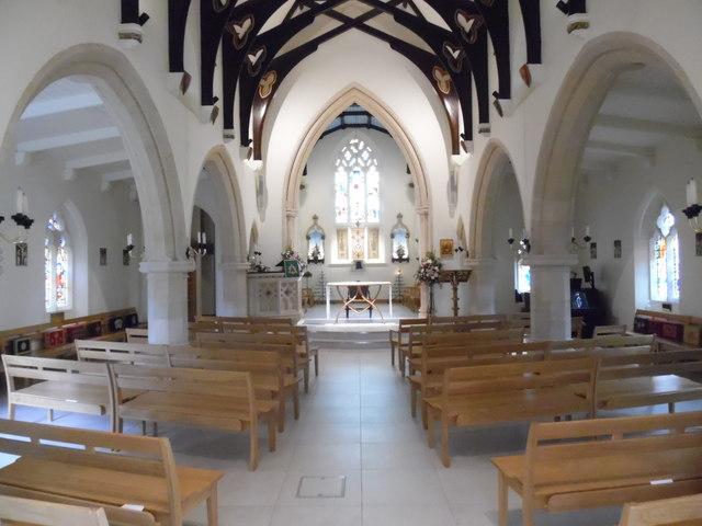 Interior of Holy Trinity Church, Prestwood