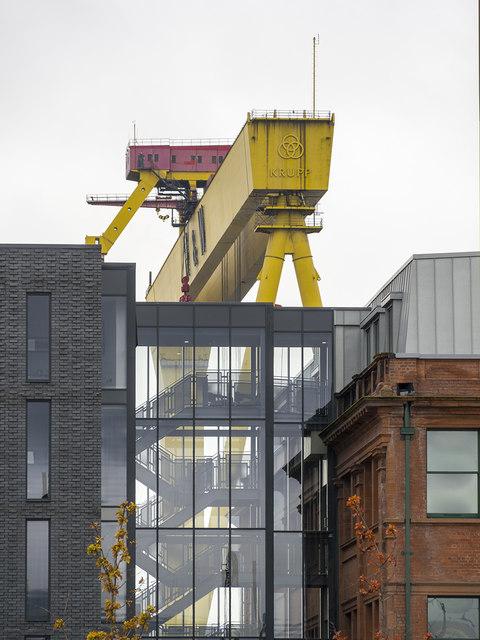 Hotel and crane, Belfast