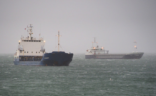 Ships off Bangor