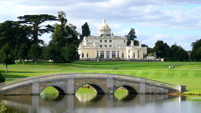 Repton Bridge and The Mansion, Stoke Park