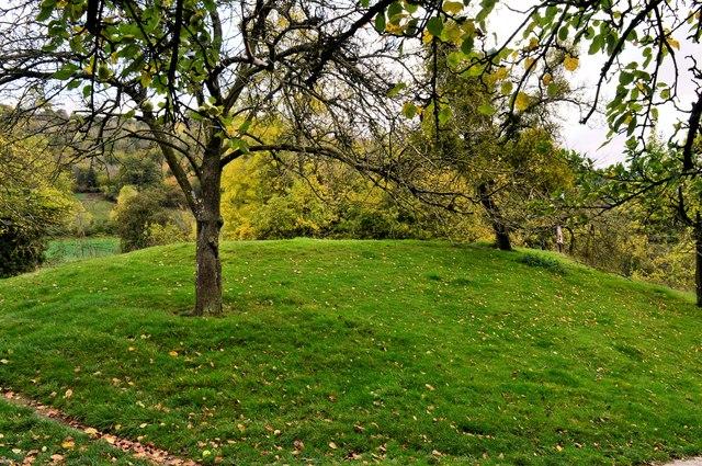 Byton Castle site - the motte