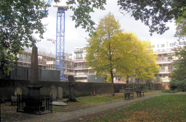 Autumn in Bunhill Fields - The North West Corner