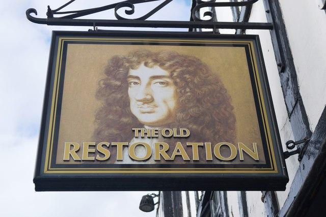 The Old Restoration pub sign