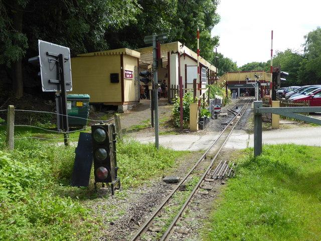 Approaching Rudyard Station on the Rudyard and Leek Railway