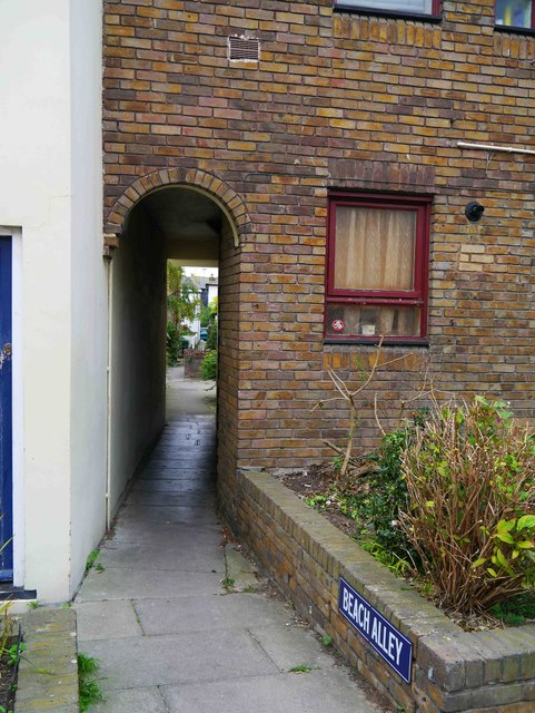 Entrance to Beach Alley, Whitstable, Kent