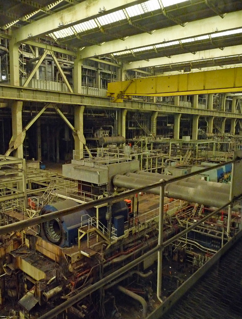Interior detail of former power station, Fawley (5)