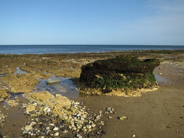 Chalk stump on the beach