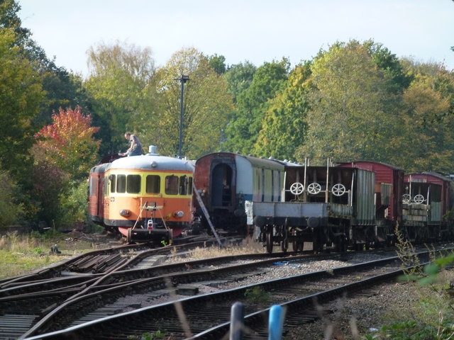 Rolling stock in the sidings at Overton Station