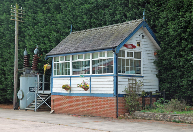 Relocated signal box, Lower Leigh