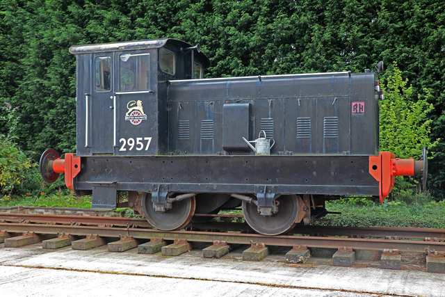 Ruston Hornsby Locomotive near Lower Leigh