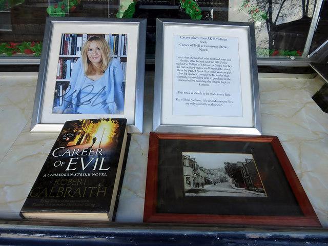 A window display in Millers of Melrose