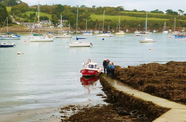 The Helford River Ferry at Helford, Cornwall