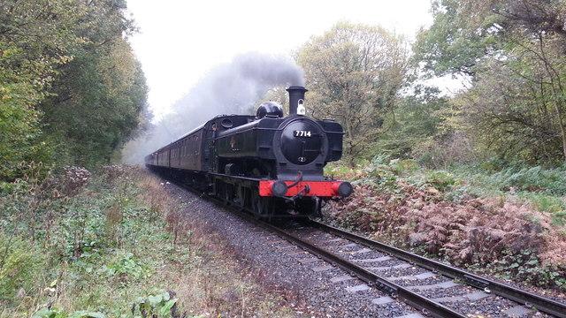 Train approaching Country Park Halt