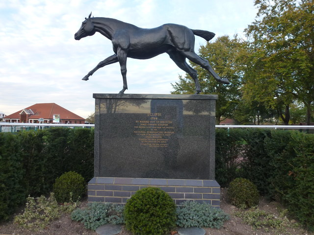 Bronze statue of the racehorse Eclipse