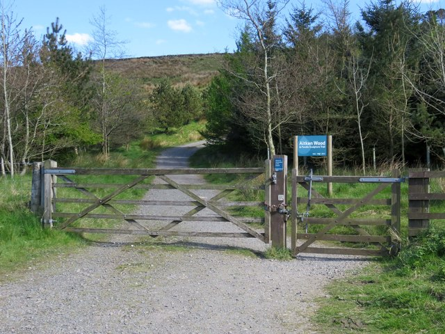 The entrance to Aitken Wood