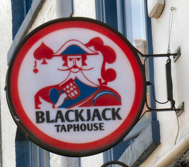Blackjack Taphouse (sign)